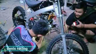 Membangun motor suzuki satria fu trail modif untuk balapan gasstrack