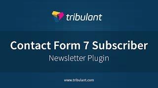 WordPress Newsletter plugin - Contact Form 7 subscribers