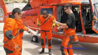 USCG Rescue Swimmer Deploys to a Baywatch Vessel at Catalina Island