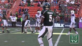 Hawaii Football Game Highlights vs. Washington 8-30-14