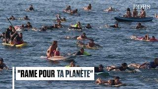 Avant le G7, les surfers se mobilisent pour les océans à Biarritz