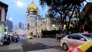 Sultan Mosque (Maghrib Azaan and prayers)