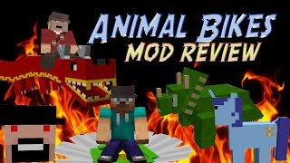 Minecraft Mod: RIDE DRAGONS, PONIES, NOTCH (Animal Bikes Mod)