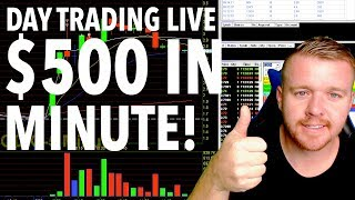 DAY TRADING LIVE! $500 in 1 Minute!