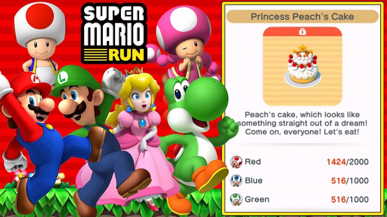 Princess Peach S Cake Super Mario Run