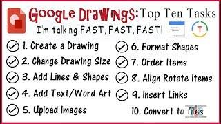 Google Drawings 2018: Top 10 Tasks (Google Educator)