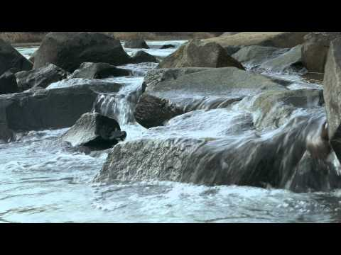 River rocks water flow--4K (Ultra HD), Natural Sound