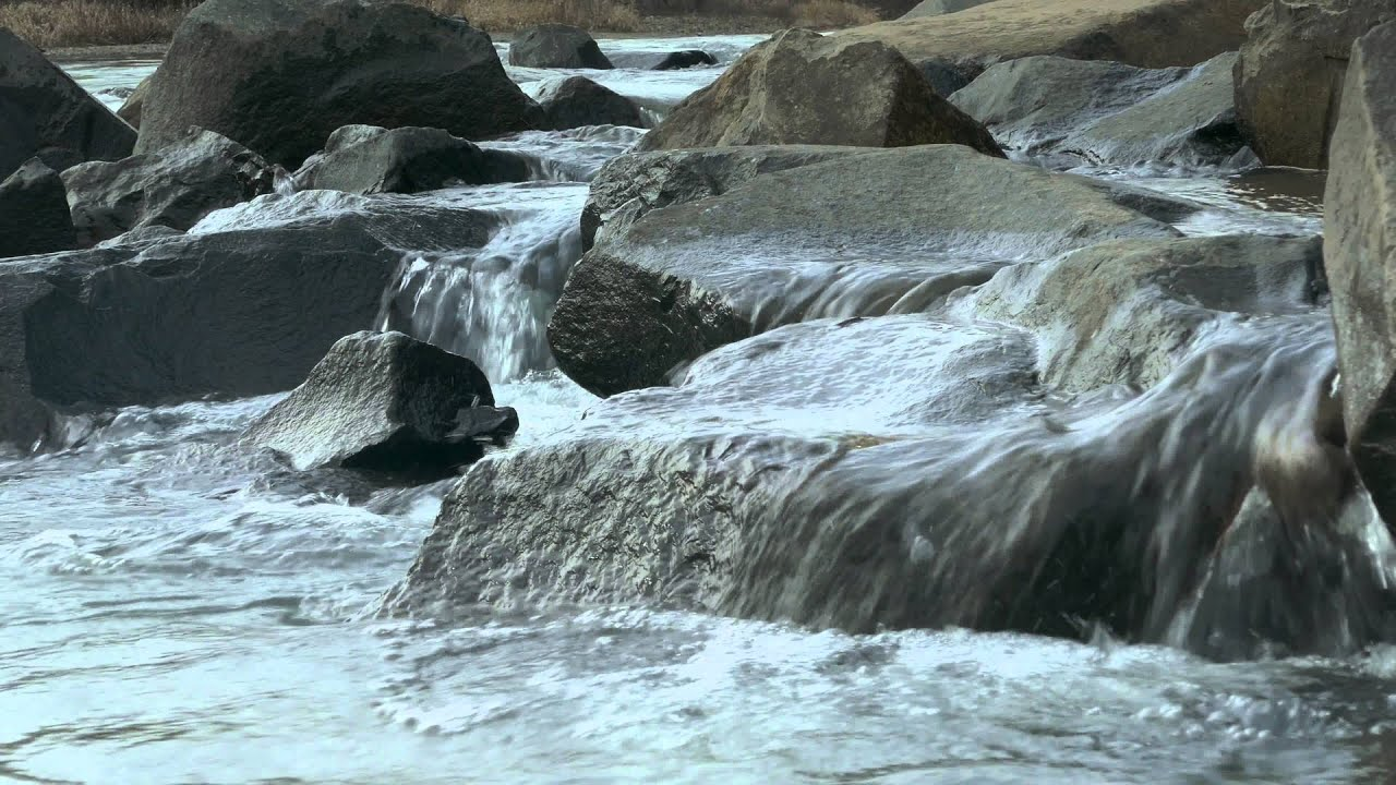 River rocks water flow--4K (Ultra HD), Natural Sound - YouTube
