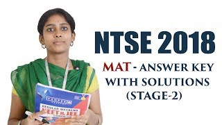 NTSE 2018 - MAT Answer Key with Video Solutions