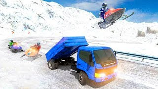 Bike Racing Games - Snowmobile : Snow Mountain Sled Crash Racing - Gameplay Android free games