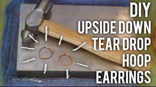 How To Make Upside Down Teardrop Hoop Earrings - DIY