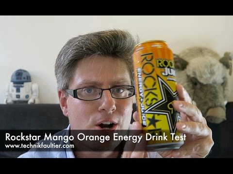 Rockstar Mango Orange Energy Drink Test