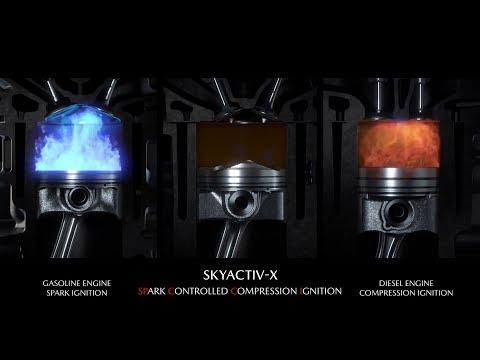 MAZDA SKYACTIV-X SCCI Engine (SPARK CONTROLLED COMPRESSION IGNITION) ► How Does It Work?