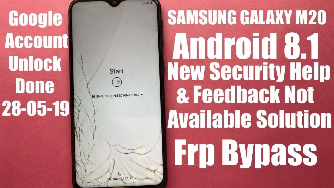 Samsung Galaxy M20 Frp Bypass Google Account Unlock Pardeep Electronics