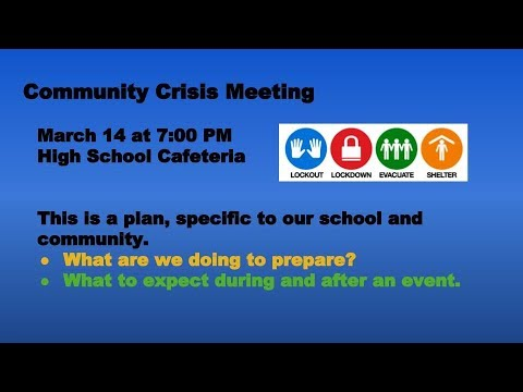 Community Crisis Meeting - Held at Freeburg Community High School District #77 * March 14, 2019