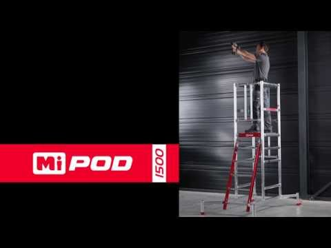 MiPOD folding work platform from Pop Up Products Ltd