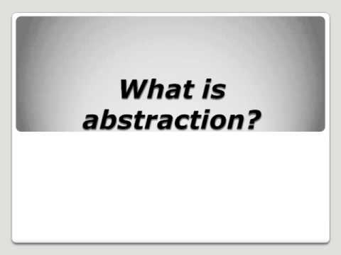 Abstract data type and abstraction