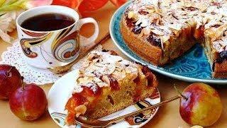 Сливово-яблочный пирог с миндалём