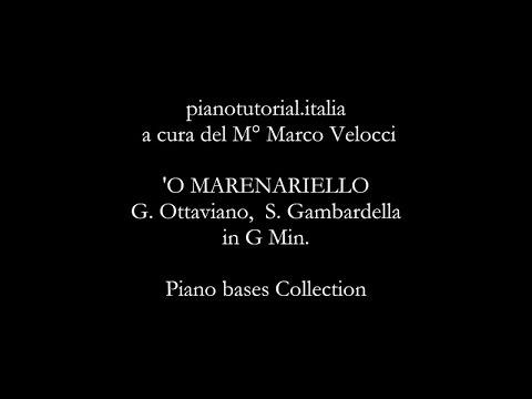 'O MARENARIELLO -  Backing track - G. Ottaviano,  S. Gambardella - Piano bases Collection