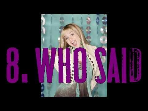 My Top 10 Hannah Montana Songs