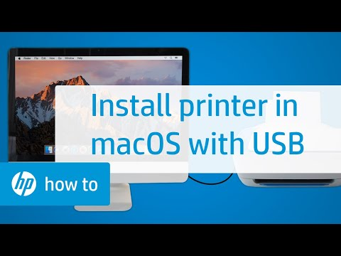 How to Install an HP Printer in macOS Using a USB Connection