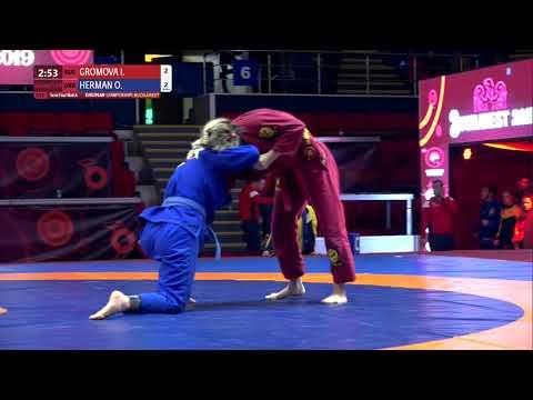 1/2 Women's GP GI - 64 kg: I. GROMOVA (RUS) v. O. HERMAN (UKR)