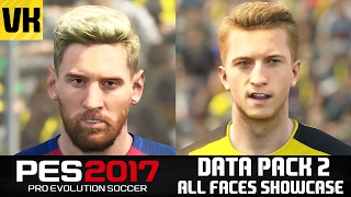 PES 2017 DATA PACK 2 ALL 101 PLAYER FACES SHOWCASE