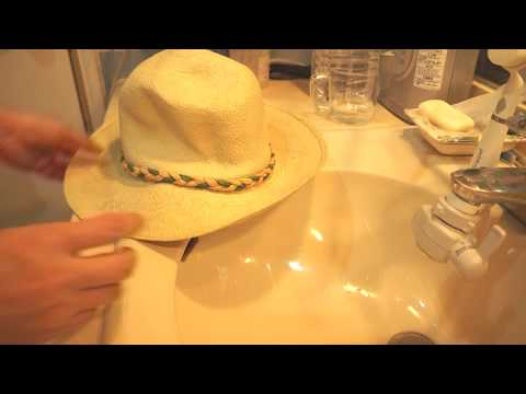 Straw hat cleaning