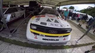 audi quattro s1 group b rally car sound at goodwood festival of speed 2016