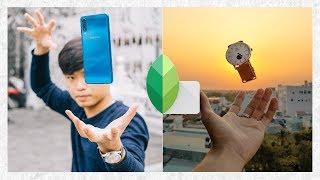 Hướng dẫn tạo ảnh bay lơ lửng với Snapseed và Lightroom mobile