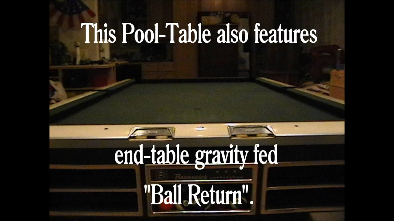 Classic Restored SingleSlate X Brunswick Pool Table YouTube - 4 x 8 brunswick pool table