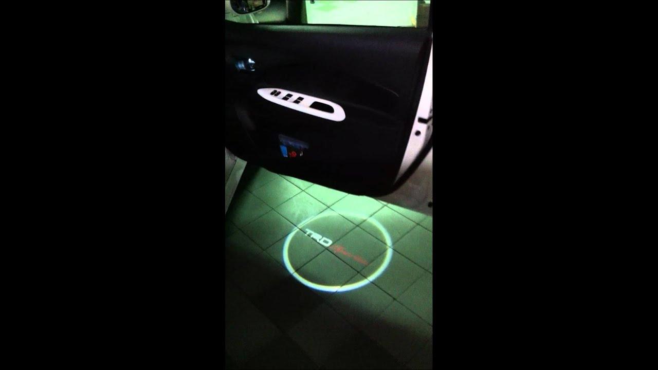 Trd Design Laser Led Welcome Light Youtube