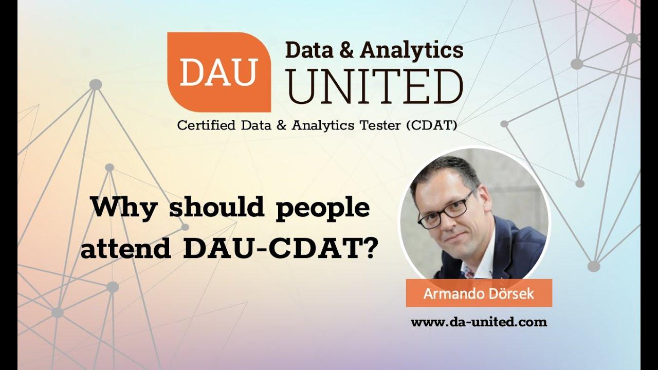 Why was DAU-CDAT created, with Armando Dörsek (Co-Creator of DAU-CDAT)