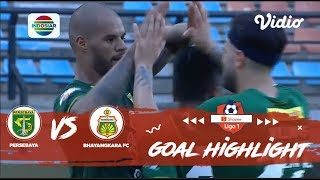 Persebaya (4) vs Bhayangkara FC (0) - Goal Highlights | Shopee Liga 1