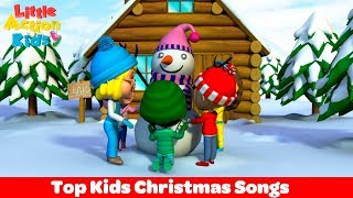Top Kids Christmas Songs Playlist | Christmas Songs and Carols Fun to Perform | Little Action Kids