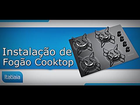 Instalando Fogão Cooktop de Bancada - Fogão de Embutir - Faça Vc Mesmo - FVM