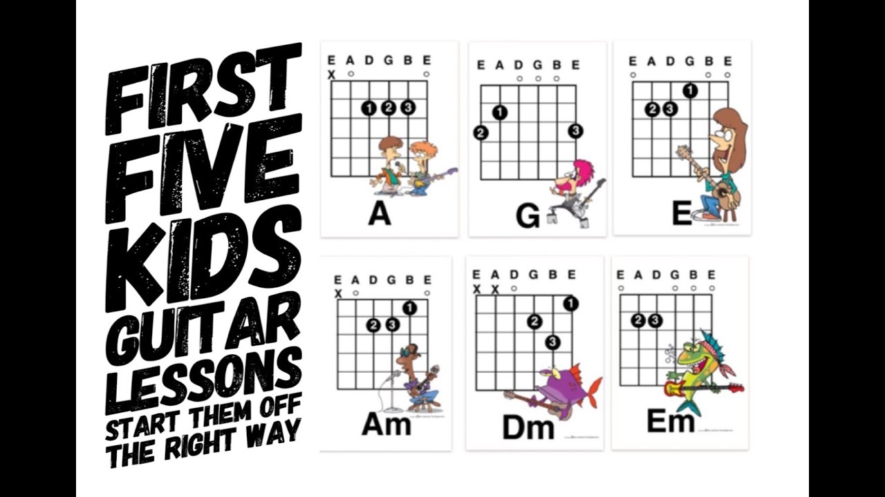 Guitar Lessons For Kids: First Five Lesson Plans and easy
