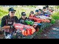 LTT Game Nerf War : Two Winter Warriors SEAL X Fight Criminal Group Bandits Weapons Nerf Mod New