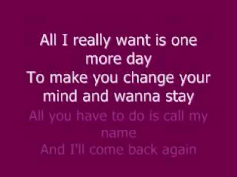 All I Really Want-Kim Lukas lyrics