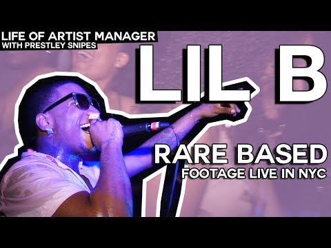 Life of Artist Manager: Lil B Rare Based Footage Live In NYC