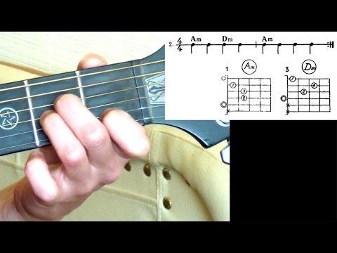 №4. Аккорды для гитары для начинающих. Последовательности аккордов 1-6. Уроки игры на гитаре