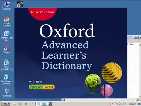 Installing Oxford Advanced Learner's Dictionary 9th Ed with Deamon Tool Lite