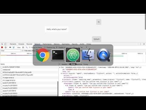 Dialogflow Chatbot - Connecting to a Custom Vue js Web Front-End