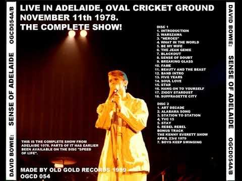 David Bowie Adelaide Oval Cricket Ground nov 11 1978 ( audio )