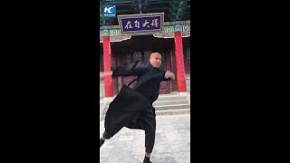 Impressive Kung Fu by Shaolin monk in Henan, China