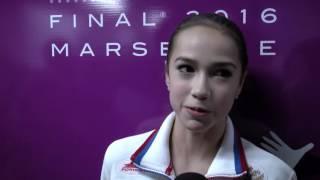 Alina Zagitova RUS Short Program Interview - Marseille 2016