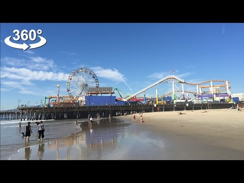 The Santa Monica Pier, VR 360 video