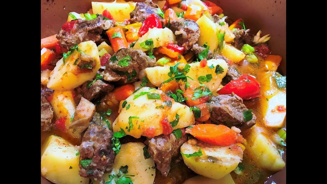 ЖАРКОЕ ПО-ДОМАШНЕМУ. Тушеное Мясо с Картофелем. Как Приготовить [Тушеная Картошка с Мясом и Овощами в Духовке]