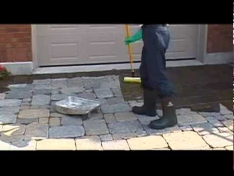 Concrete cleaning sealing of stamped concrete stained for Cleaning stained concrete