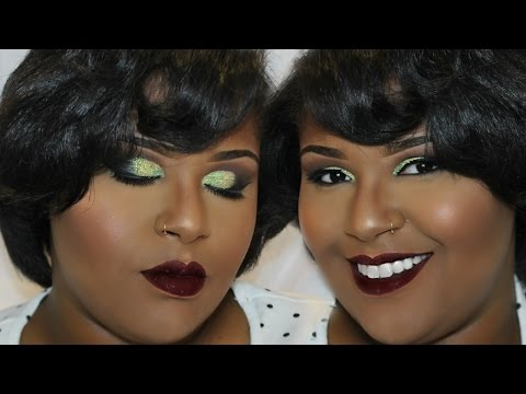 MAKEUP TUTORIAL: Green Glitter Eye Tutorial